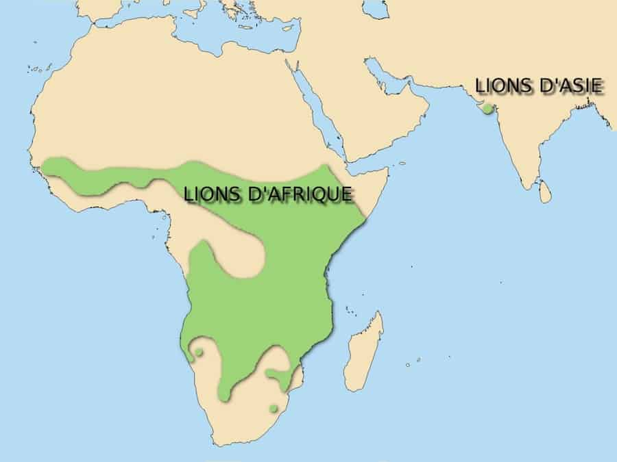 map of asiatic lion territory
